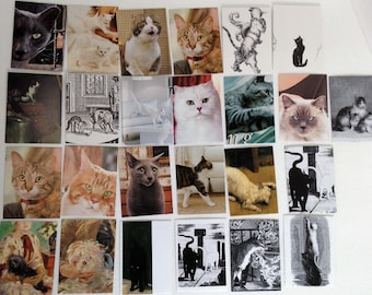 Envelopes - Top Load - Cats - x25 - Set 1    Recycled  Repurposed  Upcycled
