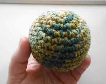 Large Crochet Stress Ball Stuffed. Camouflage
