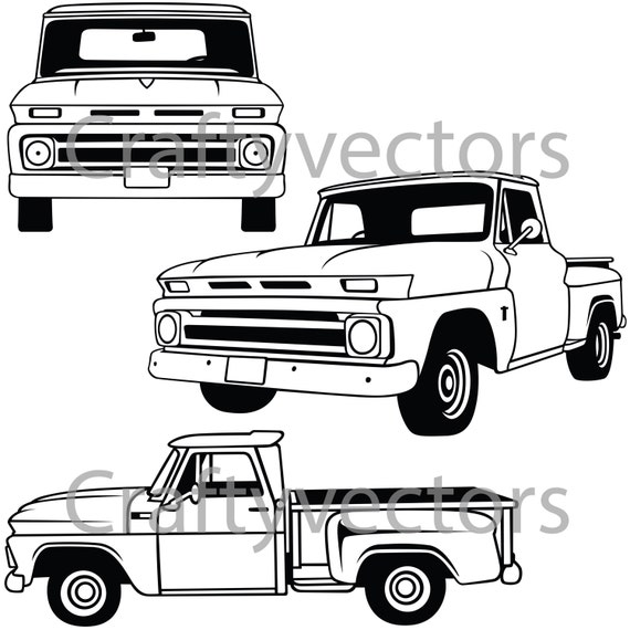 Chevy C10 Stepside 60-66 Vector File