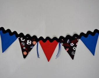 Soccer Bunting, Sports Bunting Banner, Soccer Party Decor