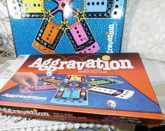 Aggravation Game By Milton Bradley 1979, Marble Game, Vintage Board Game, Family Game Night,