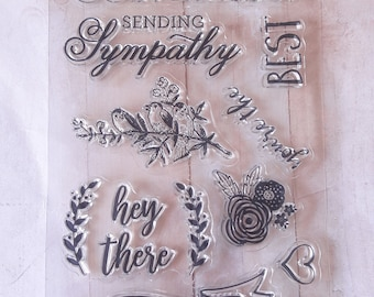Cardmaking Clear Stamps By Ms. Sparkle & Co
