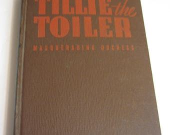 "Tillie The Toiler 1943 ""Masquerading Duchess"" Hard Back Whitman Publishing"