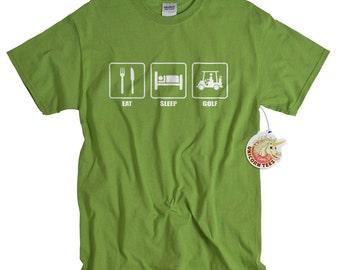 Golf Gift for men Golf Shirt Eat Sleep Golf Gift for Golfer Golf tshirt mens golfing t shirt