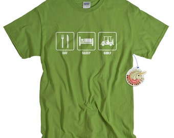 Golf Gift for Dad Eat Sleep Golf Tshirt for Men Golf Gifts for Golfer Golfing t-shirt for Him