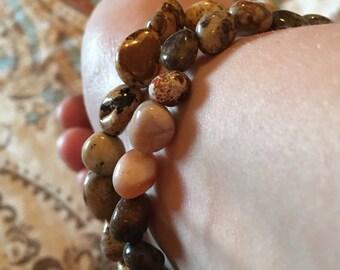 Natural Polished Agate Bracelet