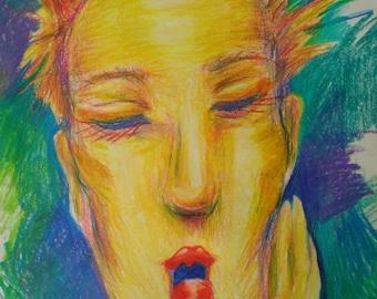 "Golden Girl Sketch (8.5"" x 11"" print)"