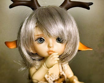 Bliss---Small Deer Horn Set Accessories (for BJD lati Yellow, FL pukifee, YoSDsize etc)