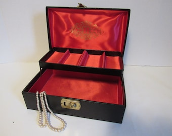 Vintage Black And Red Goth Jewelry Box Jewellery Jewellry Organizer Storage Gifts For Women Her