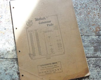 Columnal Tablet / Vintage Office Supply / Authentic Old/New Stock / Unused Full Tablet with many columns