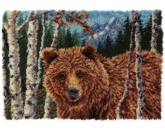 Grizzly Bear Latch Hook Rug
