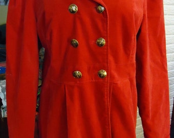 Romantic Red Velvet Jacket