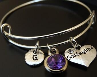 Goddaughter Bracelet, Goddaughter Charm, Goddaughter Pendant, Goddaughter Jewelry, Goddaughter Gift, Goddaughter Baptism Gift, God Daughter