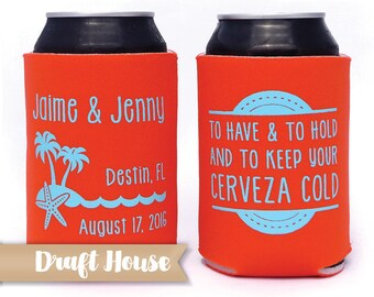 Destination Wedding Favor, Caribbean Wedding Favor, Keep Your Cerveza Cold, Wedding Drink Favors, Beach Wedding Favors, Beach Wedding Mexico