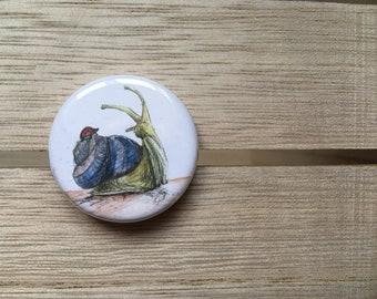 Snail & Ladybug NEW FRIENDS - 38mm button badge