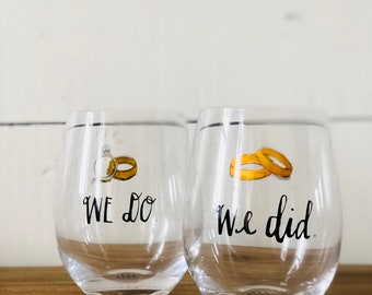 Stemless Rae Dunn Wine Glasses We Do Wine Glass We Did Wine Glass Rae Dunn