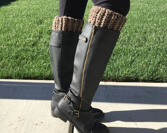 Thick Boot Cuffs (Tan)