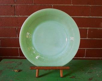 "Vintage Fire King jadiete green flat dinner plate dish 9"""