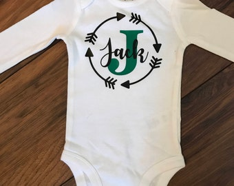 Personalized Name Onesie - Additional accent color available