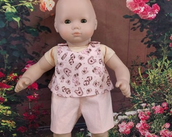 Summer Play Outfit for Fifteen inch Baby Dolls