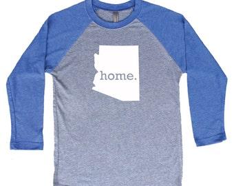 Homeland Tees Arizona Home Tri-Blend Raglan Baseball Shirt