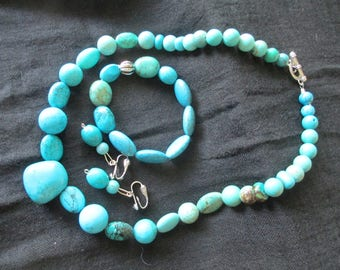 three-piece turquoise set