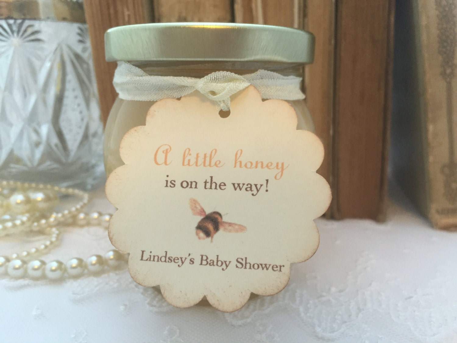 Bee Baby Shower Tags Honey Favor Tags A Little Honey is on the