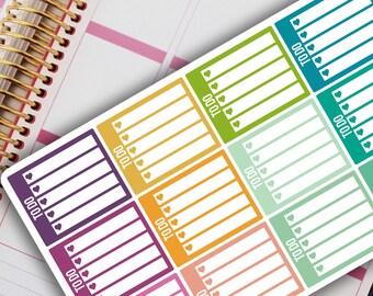 TO DO / CHECKLIST Planner Stickers