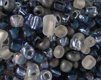 Blue Mist 6/0 Seed Bead Mix 15 grams