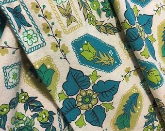 Vintage Curtains/Teal/Olive/Retro/Live Boho/Green/Teal