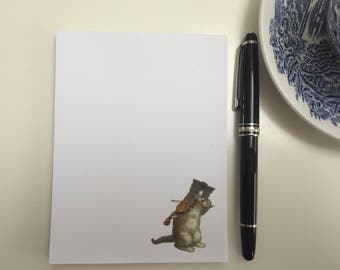 Violin Cat Notepad, Violin Cat Memo Pad