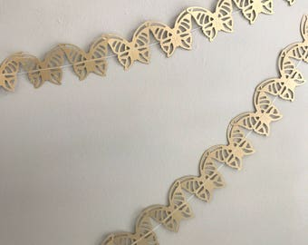 Butterfly garland - Gold butterflies - Lacy butterflies - Handmade garland - Tea party accessories - Celebration accessories - Home decor