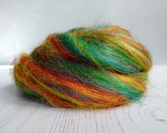 Rainbow Trilobal Nylon - Firestar - Fibres for Spinning - Fibres for Felting - NylonTop - Manmade Roving - Sparkle - Fibre Art - 50g