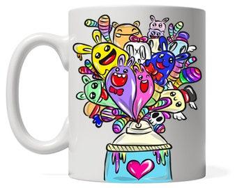 Graffiti Artist Gifts Coffee Mug, Love Street Art Mug, Krylon Mug, Custom Graffiti Text