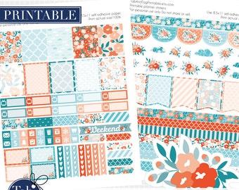 JUNE printable planner stickers for Erin Condren Planner.