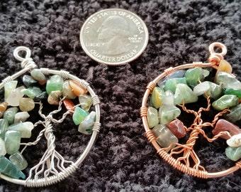 Fancy Jasper Tree of Life Pendant / Necklace