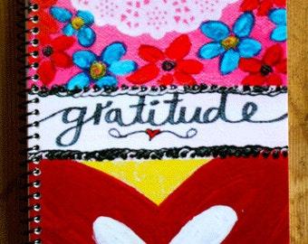 "Hello Gratitudel 5.5"" x 8.5"" Coil Bound Gratitude Journal, Stationery, Daily Gratitude Notebook"
