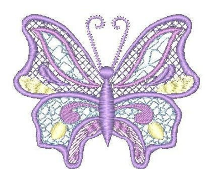 Mylar Color Lace Butterflies  ( 11 Machine Embroidery Designs from ATW ).ev02