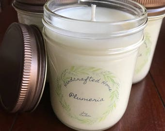 Plumeria All Natural Soy Candle