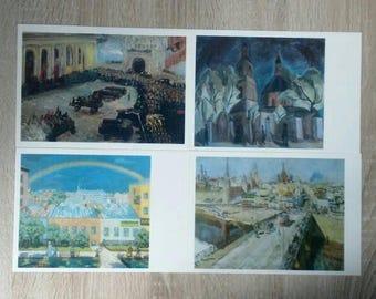 "Set of 16 vintage postcards ""Moscow"", russian postcards, vintage postcards, Moscow, unused postcards, unwritten postcard, original postcard"