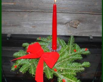 """Maine Balsam Fir Christmas Centerpiece Wreath 12"""" x 3"""""""