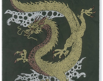 Impression Dragon japonais