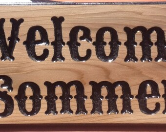 Custom Hand Carved Signs.