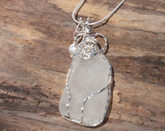 Sea Glass Jewelry,  Sterling Seaglass Necklace, Sea Glass Necklace, Lake Pendant, Seaglass Etsy, Glass Jewelry, Gift for Mom