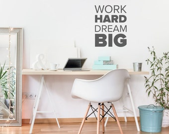 Fitness Motivation Work Hard Dream Big Never Give Up Vinyl - Vinyl wall decals business
