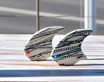 Home decor, Ceramic fish, garden sculpture, Ceramic and Pottery,  ornaments and accents, garden decoration, home and living, modern design.