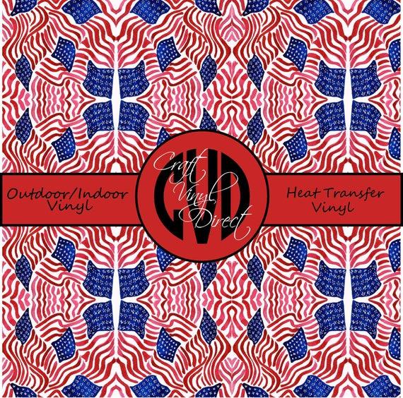 American Flag Patterned Vinyl // Patterned / Printed Vinyl // Outdoor and Heat Transfer Vinyl // Pattern 760