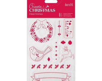 Papermania Create Christmas Mini Clear Stamps RJ3-15-CS