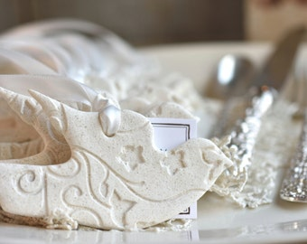 Wholesale Favors Dove Salt Dough Ornaments Set of 10 Baptism or Wedding Napkin Ring Ornaments