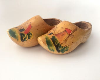 Wooden Clogs Wall Decor, Vintage Holland Souvenir